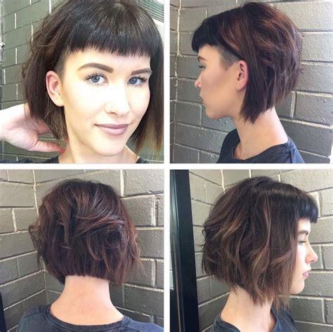 medium bob with undercut hair layered undercut women