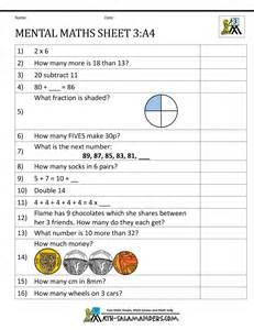 mental maths test year 4 new curriculum year 3 mental