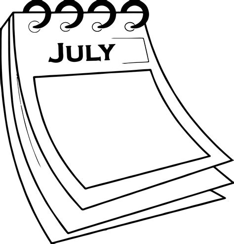 coloring papers 4th of july calendar paper coloring page wecoloringpage