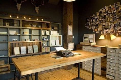 awesome rustic home office designs digsdigs