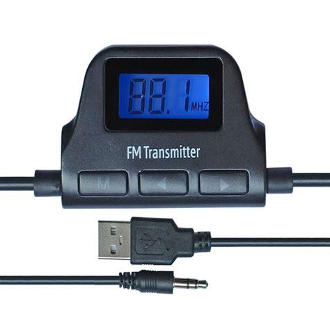 universal 3 5mm car kit lcd wireless audio car fm