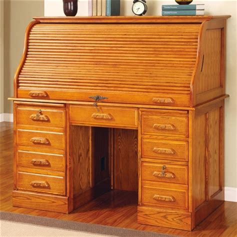 Coaster Palmetto Deluxe Roll Top Oak Computer Desk 5307n Roll Top Office Desk
