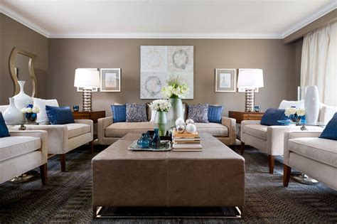 Brown Beige And Blue Living Room by Lockhart Beige Blue Living Room Modern Living
