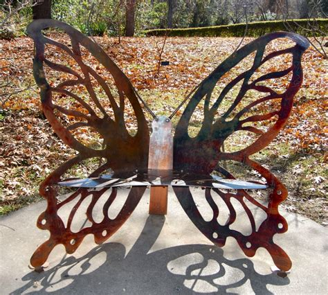 butterfly bench garden a site for sore thighs hometown by handlebar