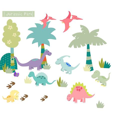 dinosaur stickers for walls dinosaur fabric wall stickers by littleprints