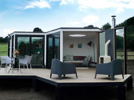 honeycomb home design hivehaus hexagonal flatpack home hides lots of storage