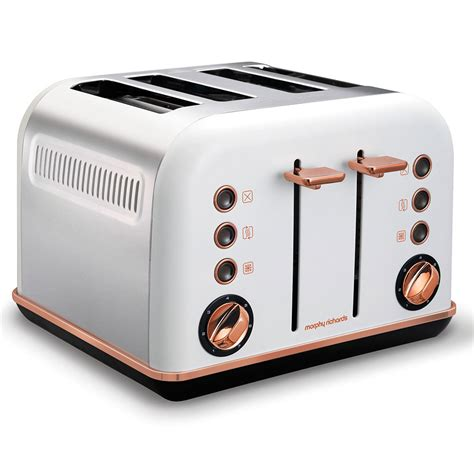 Morphy Richards Accents Toaster Morphy Richards White Accents Rose Gold Kettle Amp 4 Slice