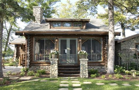 Ideas To Decorate Entrance Of Home by Bay Lake Cabin Rustic Exterior Minneapolis By