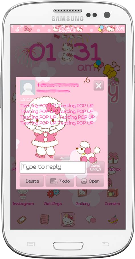 go sms themes hello kitty black pretty droid themes hello kitty winter go sms theme