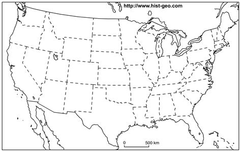 blank map of the us us states blank map 48 states