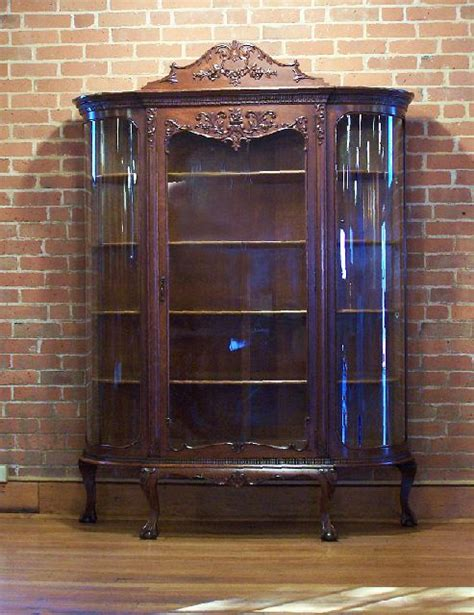 oak curio cabinets with curved glass 17 best images about victorian armoire curio cabinets on