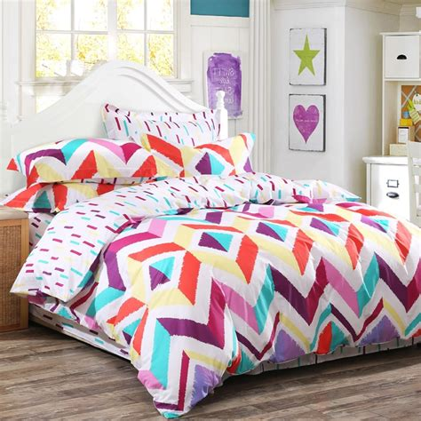 red chevron comforter red purple and yellow colorful chevron stripe modern