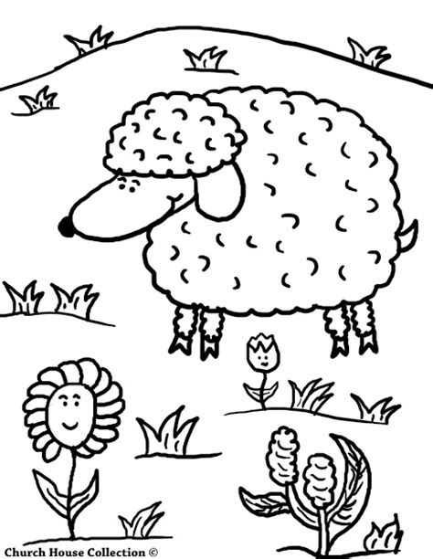 coloring page of jesus and sheep free printable sheep coloring pages colorings net
