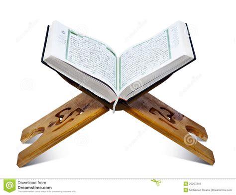Mushaf Al Qur Anku For Table de tribune quran royalty vrije stock afbeelding