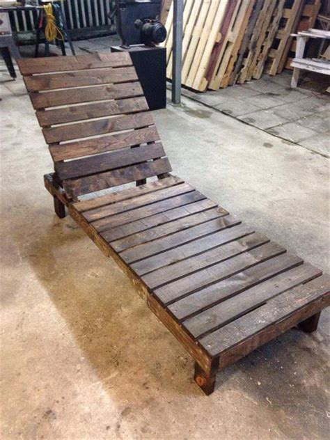 homemade recliner chair diy pallet lounge chair patio furniture 101 pallets