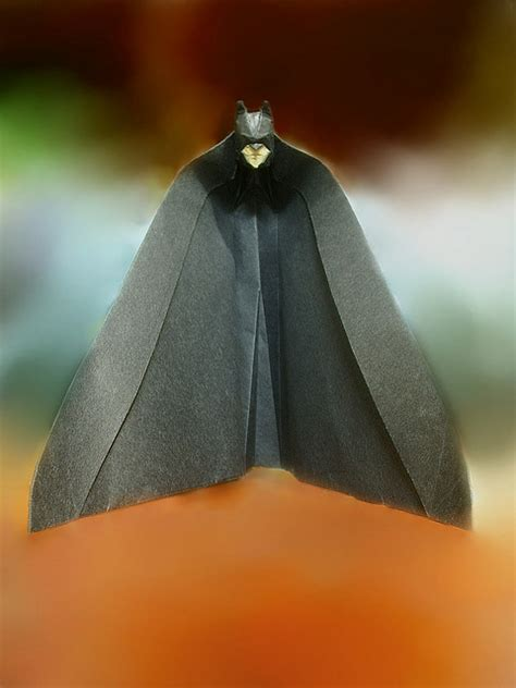 Origami Batman - batman origami the papercut