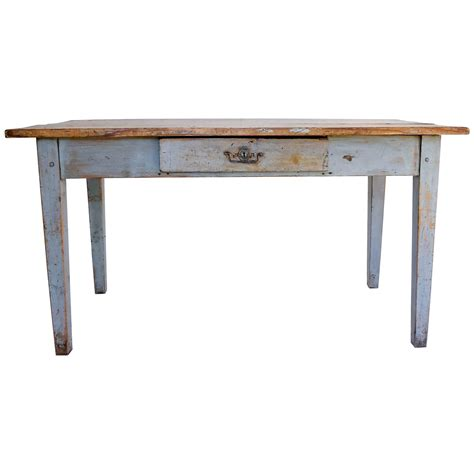 writing desk rustic painted farm table or writing desk with drawer at 1stdibs