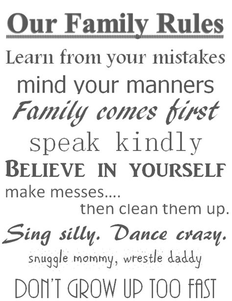 printable family house rules 5 best images of our family rules printable family rules