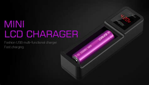 Charger Baterai Efest Xsmart Universal Single Battery Charger Black efest luc mini universal 1 slot battery charger with lcd black jakartanotebook