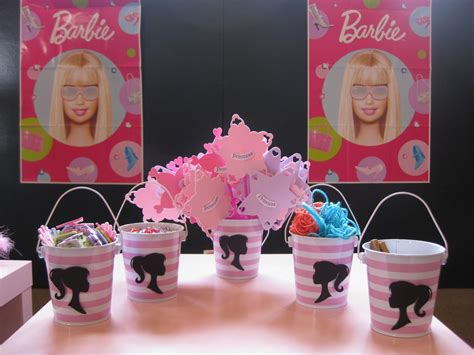 barbie themed birthday party swanky chic fete pink barbie party a 5th birthday party