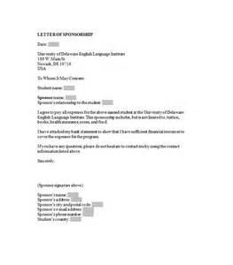 Sponsorship Letter Template by 43 Free Sponsorship Letter Sponsorship