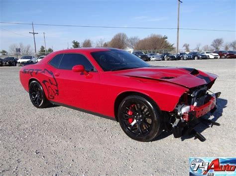 dodge hellcat challenger 2015 2015 dodge challenger srt hellcat repairable for sale