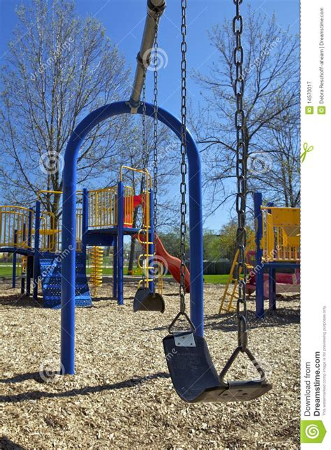swing set ontario swing set in playground royalty free stock photography