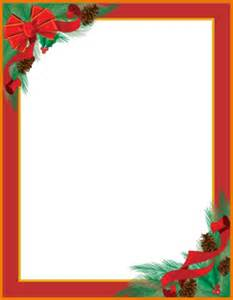 christmas letter templates pinecones ribbons christmas
