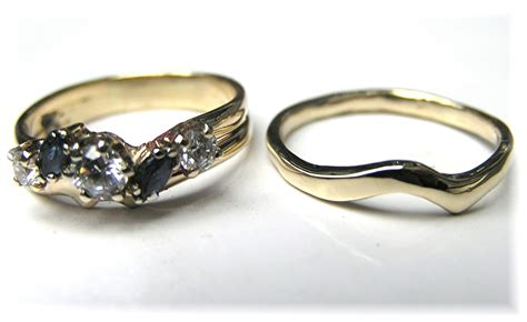 Custom Made Wedding Rings by Made Custom Handmade To Fit Curved 14k Gold Wedding