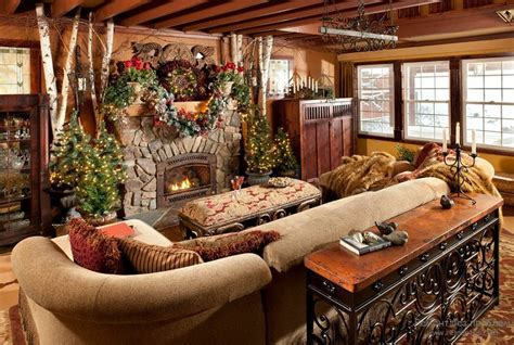 log home interior decorating ideas stunning rustic christmas decorations christmas