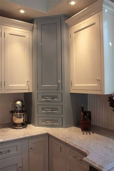 Small Kitchen Corner Cabinet 20 Practical Kitchen Corner Storage Ideas Shelterness