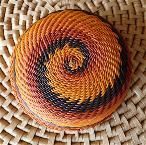 rust colored l shades zulu telephone wire bowl basket south africa earth tones