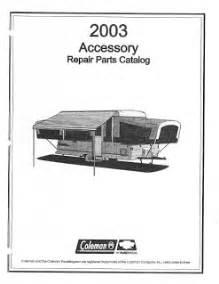 2003 coleman popup camper repair parts manuals camper