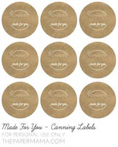 Canning Jar Labels Template by Day 39 Treats Cookie Recipe Jars