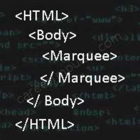 tutorial html marquee careerimpulse html marquee tutorial attributes tags