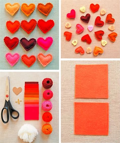 paper craft ideas for home decor do it yourself decorating for s day colorful fleece hearts diy is