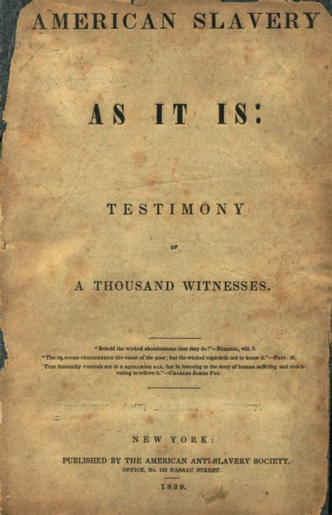 american slavery as it is selections from the testimony of a thousand witnesses dover thrift editions books slavery abolition in the us