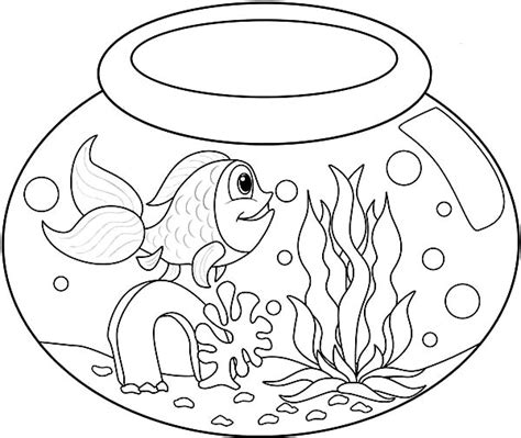 fishbowl coloring page coloring pages