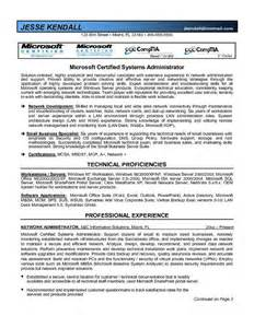 Sharepoint Administration Cover Letter by Sharepoint Administrator Resume Sle