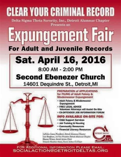 How To Clear Criminal Record In Clear Your Criminal Record Expungement Fair Detroit Department Nextdoor