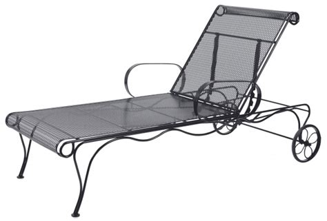 wrought iron chaise lounge with wheels vintage metal wrought iron chaise lounge chairs with