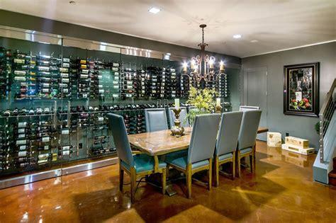 Wine And Liquor Cabinets California Home Modern Wine Cellar San Francisco