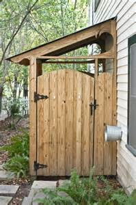garden shed or place to hide garbage cans landscape