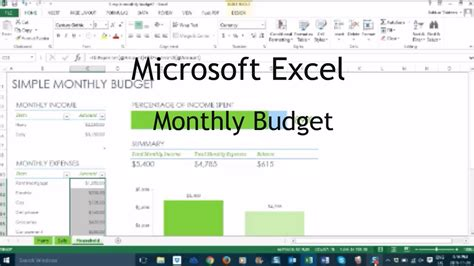 tutorial excel budget how to make a monthly budget in excel tutorial youtube