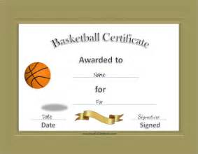 basketball award certificate templates 8 basketball certificate templates free