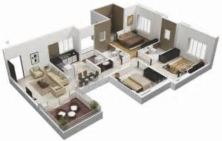 floor plan for 3 bedroom flat planos casas modernas