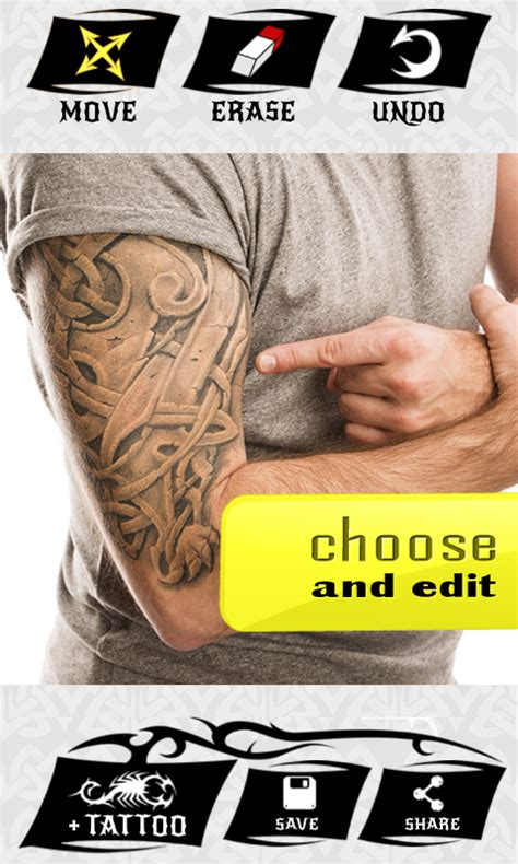 virtual tattoo yourself online tattoo my photo 2 0 android apps on google play