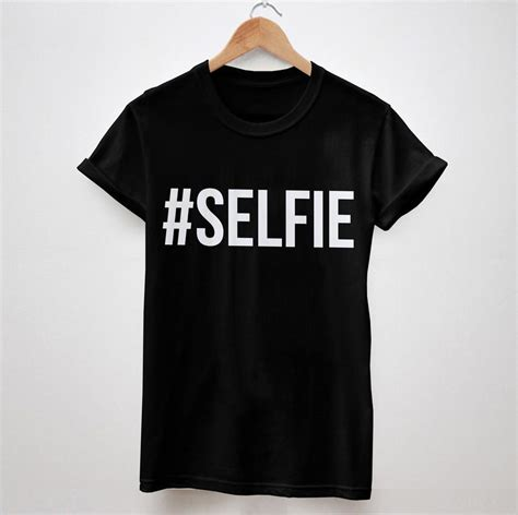 Black And White Top 1 selfie letters print tshirt cotton casual shirt white black top tees big size s xxxl drop