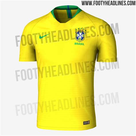 Brasile Mondiali 2018 Exclusive Brazil 2018 World Cup Kit Leaked Footy Headlines