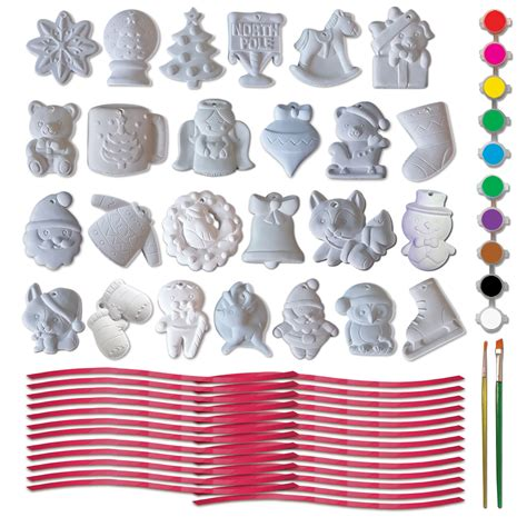 25 plaster christmas ornaments